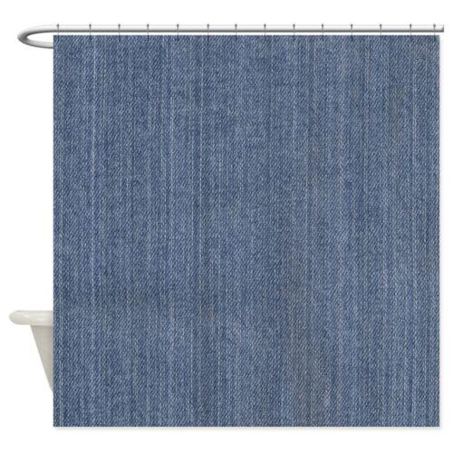 "69/""x70/"" 784395660 CafePress Blue Denim Jean Decorative Fabric Shower Curtain"