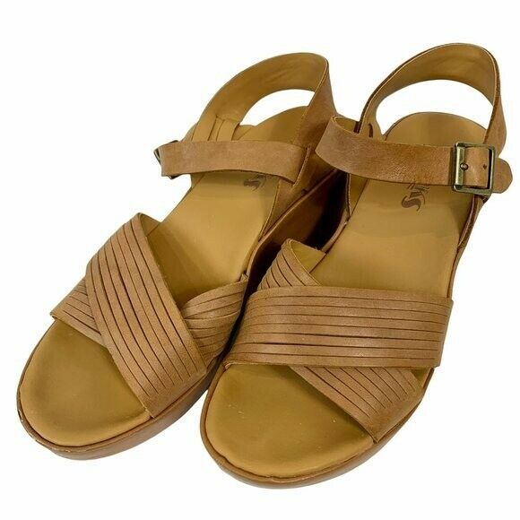 Korks Leather Wedge Martinique Strappy Sandals 7 - image 1