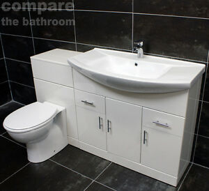 Toilet Sink Unit : 1350mm-Bathroom-Vanity-Set-850mm-Basin-Sink-Unit-WC-Toilet-Unit-Tap ...
