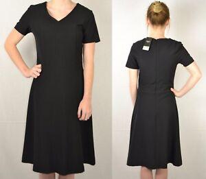 NEXT-NEW-UK-6-18-BLACK-FLUTED-WORKWEAR-DRESS-305