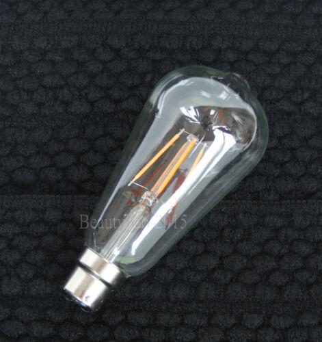 Edison Bulb LED COB//Tungsten Filament Retro Light Lamp B22 BC E27 ES ST64 2W-60W