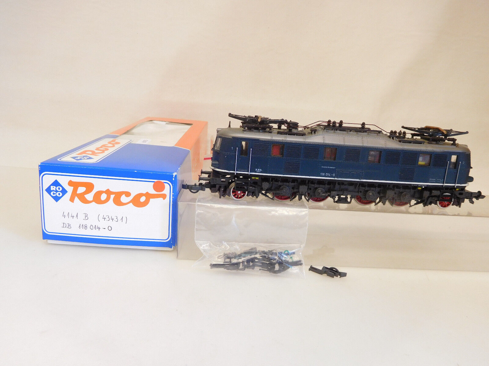 MES-60755 Roco 4141 B H0 E-lok DB 118 014-0 sehr guter Zustand,