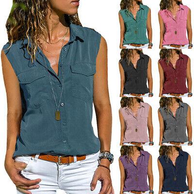 Women/'s Bodycon Tank Tops Sleeve T Shirt Blouse Floral Lace Vest Cami Party 6-12