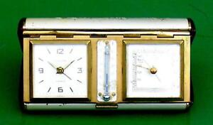 SUPERB-ART-DECO-EUROPA-SWISS-8-DAY-TRAVELLERS-WEATHER-STATION-ALARM-CLOCK
