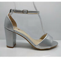 WOMENS LADIES BLOCK HEELS PARTY BEACH SANDALS ANKLE STRAP SHOES SIZE