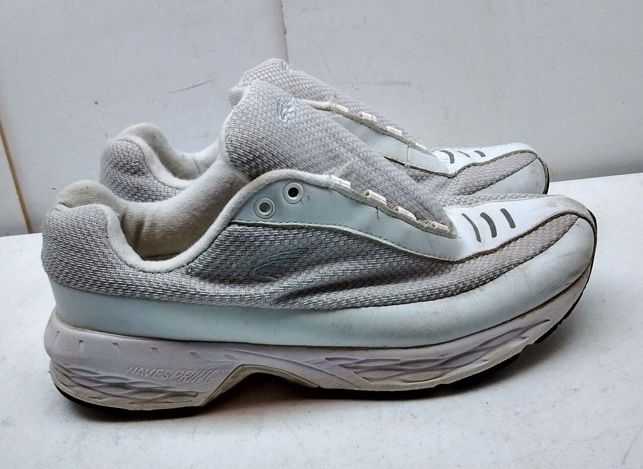 Spira mujer blanco cuero tape Oxford perforation para caminar calzado 9,5 m 41