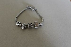 Image Is Loading Trollbeads Bracelet With Lock And 5 Beads