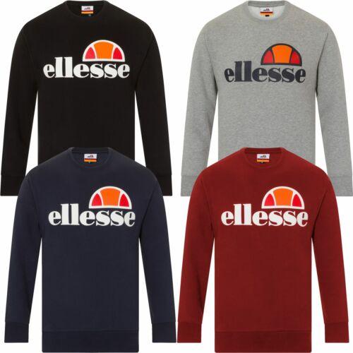 Ellesse SUCCISO Felpa Girocollo Logo-Nero, Blu, Grigio, Rosso-S, M, L, XL