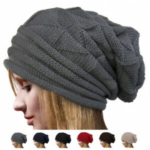 b20880b4975 Knit Men s Women s Baggy Beanie Oversize Winter Hat Ski Slouchy Chic ...
