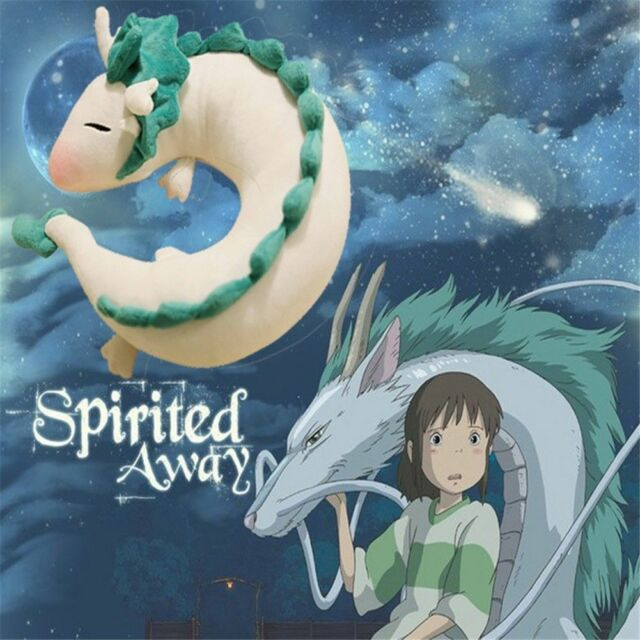 Anime Spirited Away White Dragon Haku Plush Toy Doll Animal U Shape Neck Pillow For Sale Online Ebay