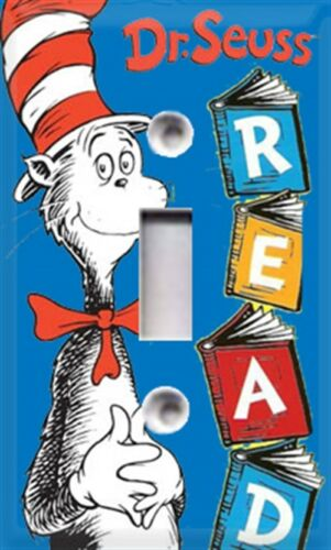 Seuss Cat In The Hat READ Themed Light Switch Cover ~ Choose Your Cover ~ Dr