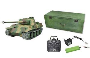 RC-Panzer-Panzer-Panther-G-R-amp-S-2-4GHZ-Metallketten-Metallgetriebe-QC-23051