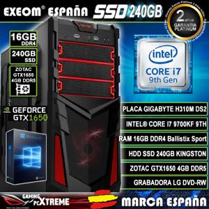 Ordenador-Gaming-Intel-I7-9700KF-16GB-DDR4-SSD-240GB-Zotac-GTX1650-4GB-Windows