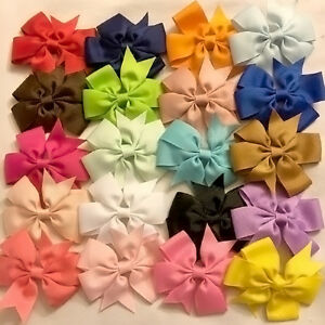 20x-Cute-Baby-Girls-Hair-Bows-Boutique-Hair-Grosgrain-Ribbon-without-clip