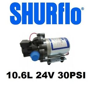 Details about SHURFLO TRAIL KING WATER PUMP 10 6L 24V 30PSI - 2095-473-443