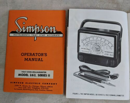 32 variety/'s - your choice Operator's Manuals Simpson Electric Company