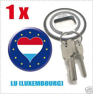 Décapsuleur porte clef Drapeau Europa  Flag LU-(LUXEMBOURG<wbr/>)