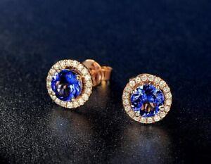 Lady-Silver-Austria-Crystal-Earrings-Studs-Women-18K-Gold-GP-Wedding-Jewellery