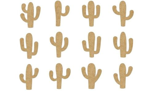 12 mixed Cactus plants MDF blanks Picture-Scrapbook-box #CACT006-100mm