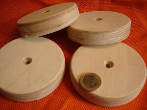 16-Ruedas-de-madera-bettkastenrader-Abedul-Multiplex-90-x-20-MM-CON-AGUJERO