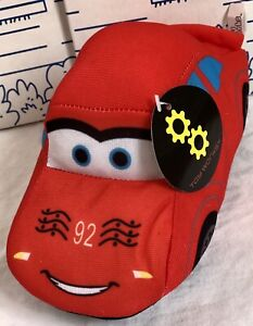 New-Toy-Works-Cars-Stuffed-Plush-92-Red-Racing-Race-Car-7-Toys-Boys-Doll-NWT
