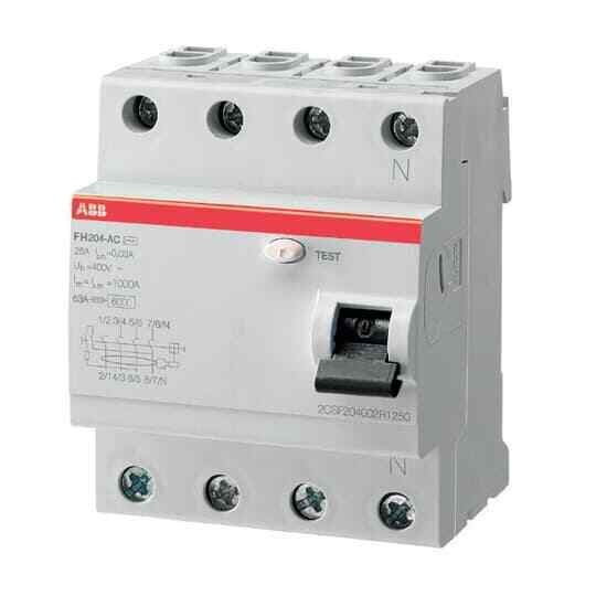 Residual Current Circuit Breaker FH204 AC-63/0.3, 2CSF204003R3630, ABB