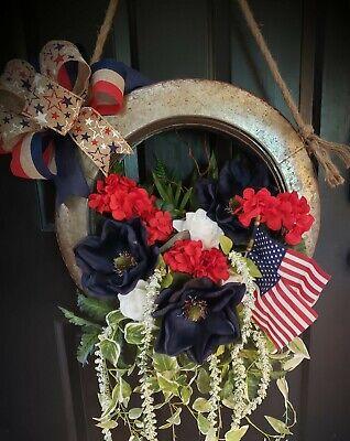 Farmhouse Patriotic Wreath