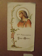 canivet Image pieuse Sainte philomene vierge et martyre