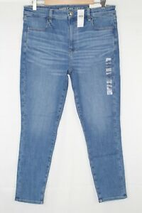 American-Eagle-Super-High-Rise-Jegging-Crop-Stretch-Size-14r-Royally-Light