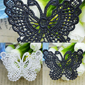 b27bbf1e3f Image is loading Butterfly-Lace-Patches-Embroidery-Wedding-Applique-Trim -Clothing-