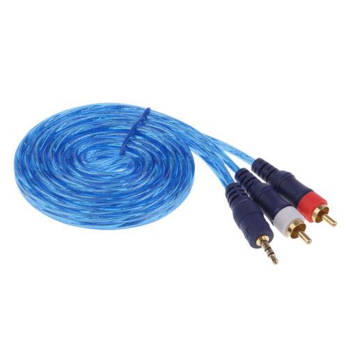 "3,5 mm 1//8 /""Stecker Stereo Mini Jack auf 2 RCA Male Audio Lautsprecherkabel"