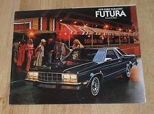 USA - Ford Fairmont Futura Saloon Brochure 1979 - US Market In English
