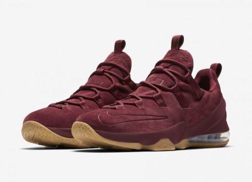 new concept f683f 932fb Nike Lebron XIII 13 Low PRM Team Red Maroon Suede Size 10 Ah8289 600