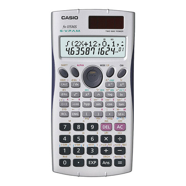 Casio FX-115MS Plus-SR Scientific Calculator 279 Functions Solar Battery Powered