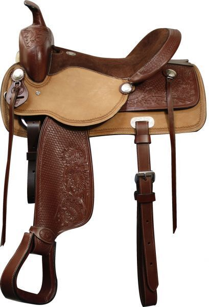 Double T Pleasure Style Saddle. Full QH Bars.16 ,  17   order online