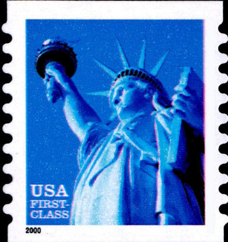 2000 34c Statue of Liberty, Coil, SA Scott 3453b Mint F
