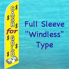 Cash For Gold Windless Banner Flag Tall Curved Top Advertising Feather Swooper