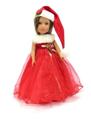 "14.5/"" Doll Clothes-fit American Girl Wellie Wishers-Party Dress-Reindeer Sparkle"