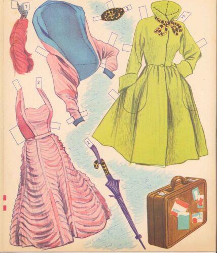 VINTAGE 1953 GOLDEN GIRL PAPER DOLL ~LASER ORG SZ REPRODUCTION~LO PR~HIQ FREE SH