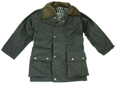 Made in the UK Kids Padded Wax Jacket Dallaswear Childrens Padded Wax Jacket