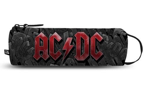 DC Rocksax Federtasche Federmappe Schlampermäppchen Schlamperrolle Mäppchen AC