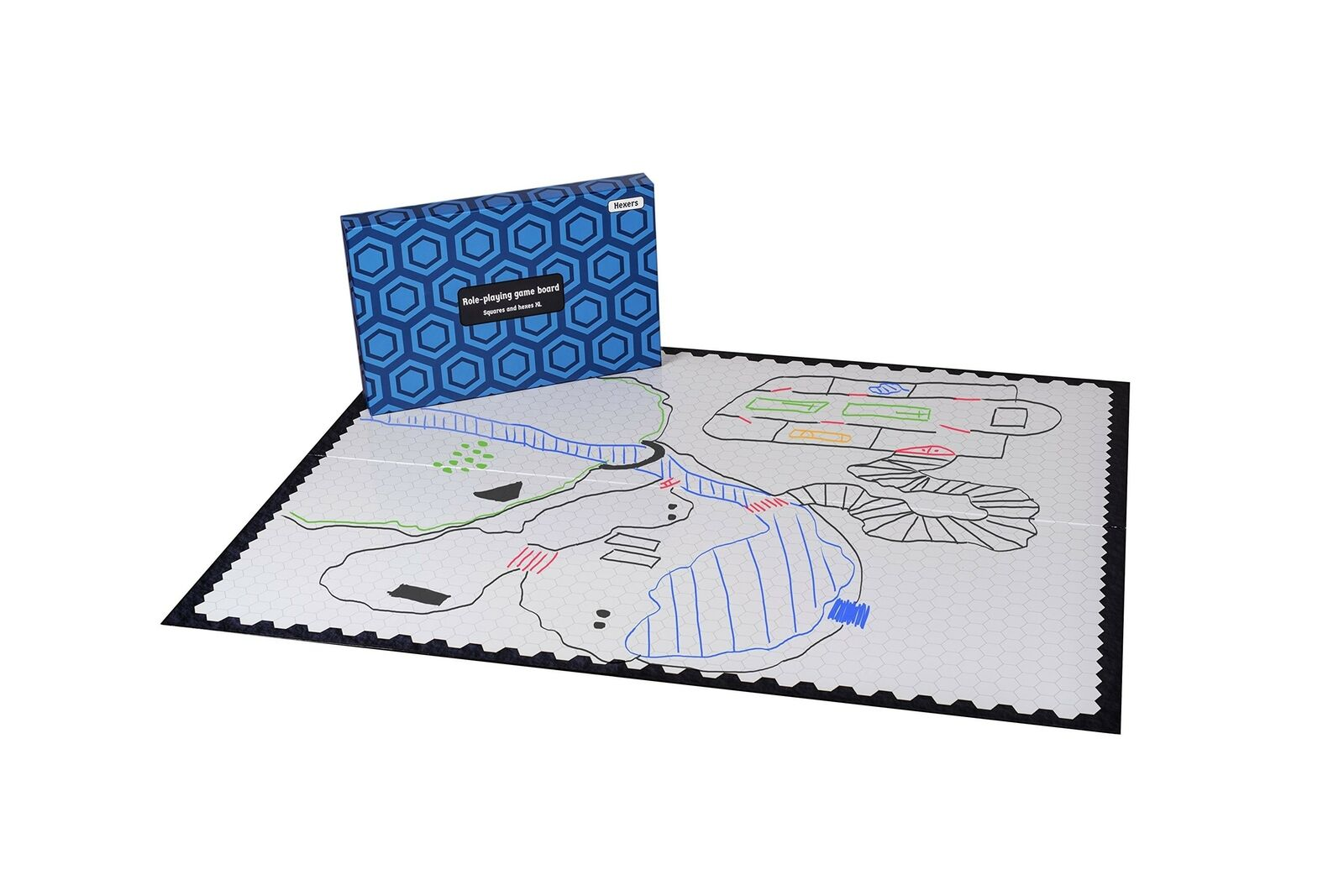 Hexers XL Role Playing Game Board  mat Alternative - Dungeons & Dragons DND P...