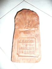 HAUTE MARNE LOUVEMONT  ART POPULAIRE  ANCIENNE TUILE PROTECTRICE H JEANSON