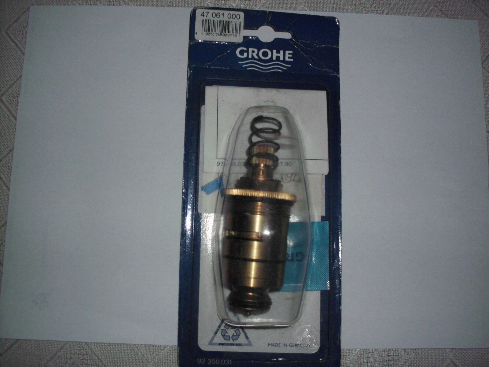 Grohe Dehnstoff Thermoelement 1 2  47061000