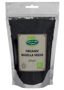 Organic Nigella Seeds 250g (Black Seeds, Charnushka, Black Cumin or Kalonji)