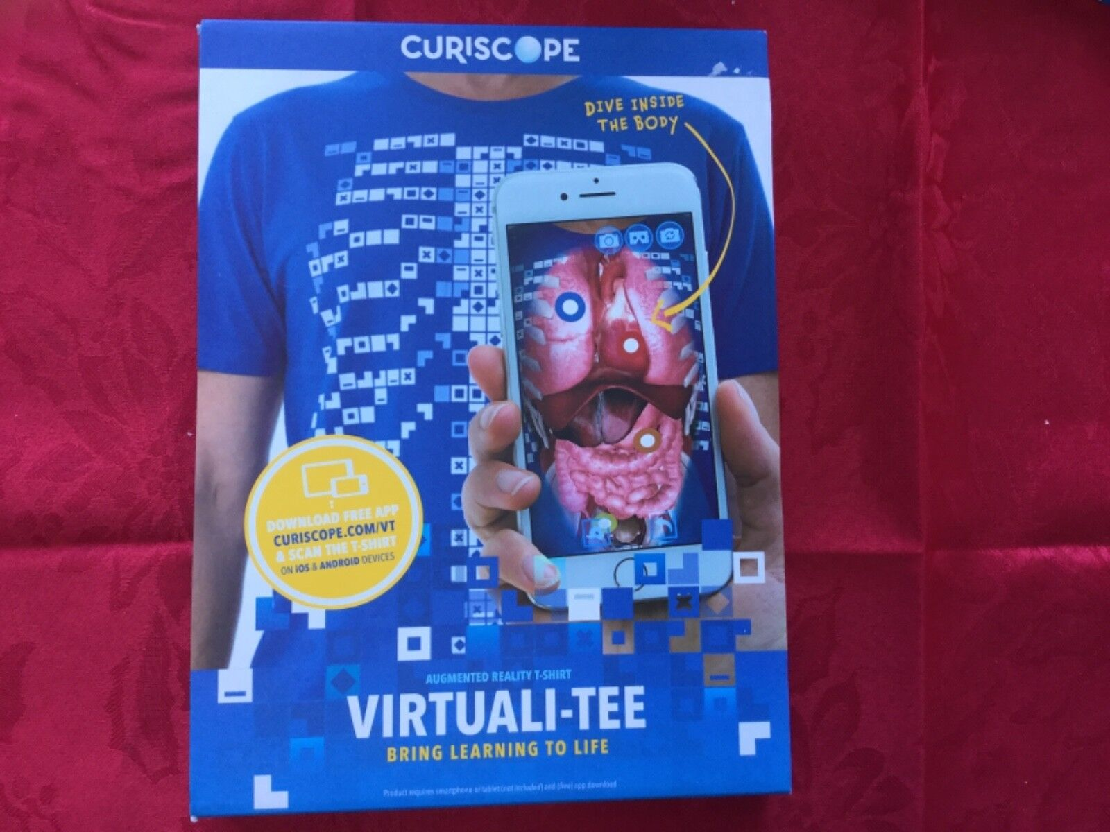 CURISCOPE VIRTUAL-TEE BRING LEARNING TO LIFE NEW SIZE ADULT