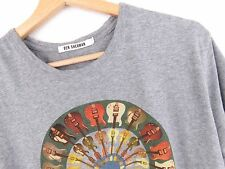 KD864 BEN SHERMAN T-SHIRT TOP GUITAR GREY MELANGE ORIGINAL PREMIUM size L