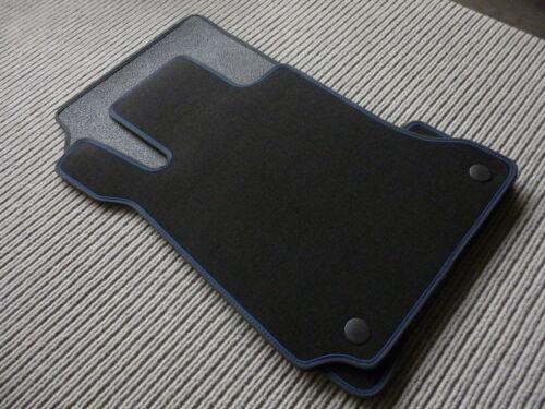 BLAU $ DeLuxe Velour Fußmatten für Audi A4 S4 RS4 B9 NUBUKBAND SCHWARZ NEU