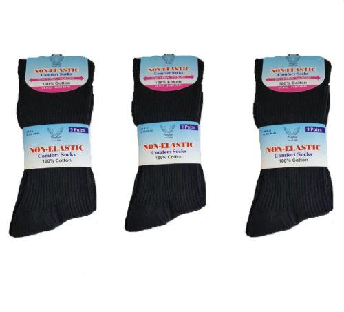 SEAM FREE WOOL Mens Gentle Grip Socks Non Elastic Soft Top Diabetic COTTON