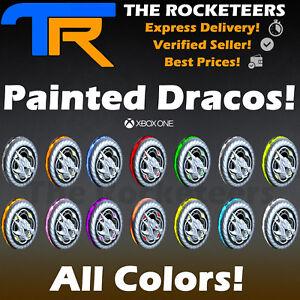 XBOX-ONE-Rocket-League-Every-Painted-Draco-Exotic-Wheels-Crimson-White-SB